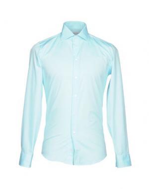 Pубашка RICHARD JAMES. Цвет: лазурный