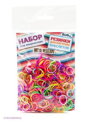 Резиночки для плетения браслетов Mitya Veselkov. Цвет: белый, зеленый, красный, фиолетовый