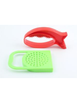 Универсальная точилка и крышка для слива с ручкой Радужки. Цвет: зеленый, красный
