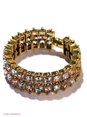 Браслет Royal Diamond. Цвет: золотистый, бледно-розовый, прозрачный