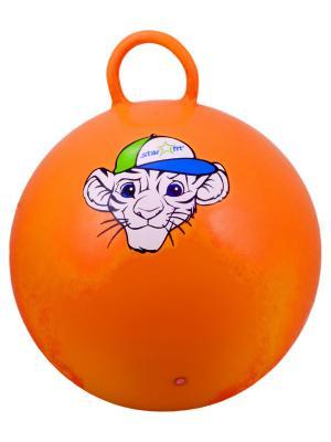 Мяч-попрыгун STARFIT GB-402 55 см Тигренок, с ручкой, оранжевый 1/10. Цвет: оранжевый