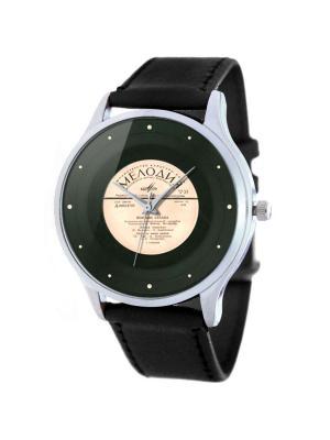 Дизайнерские часы Пластинка Tina Bolotina. Цвет: темно-серый, бледно-розовый