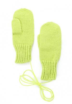 Варежки Knitted Kiss. Цвет: зеленый