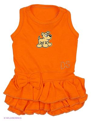 Платье Doggy Style. Цвет: оранжевый