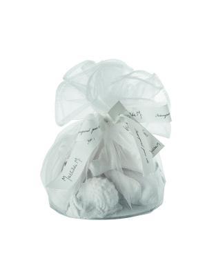 Ароматические гипсовые фигурки в большом мешочке Mathilde M. Цвет: белый