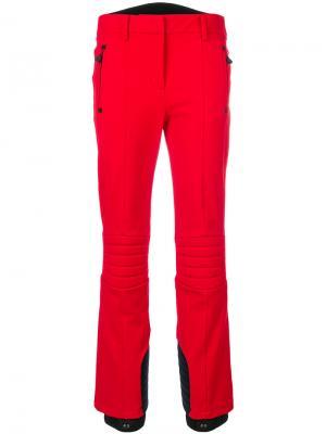 Зимние брюки в стиле casual Moncler Grenoble. Цвет: красный