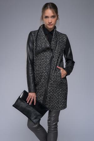 Пальто VESPUCCI BY VSP. Цвет: black, white