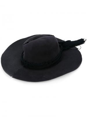 Широкополая шляпа Greg Lauren. Цвет: чёрный