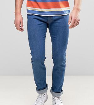Levis Синие джинсы слим с оранжевым ярлыком 505C. Цвет: синий