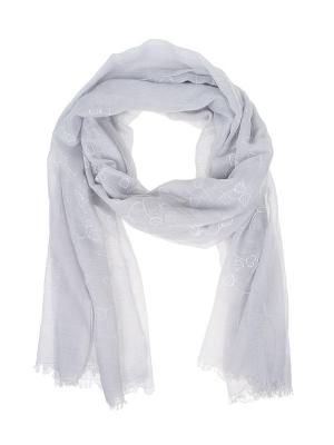 Палантин Migura. Цвет: серый, белый, голубой