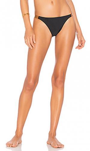 Плавки бикини с кожаными пряжками Vix Swimwear. Цвет: черный
