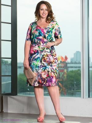 Платье TUZZI NERO. Цвет: фиолетовый, красный, зеленый