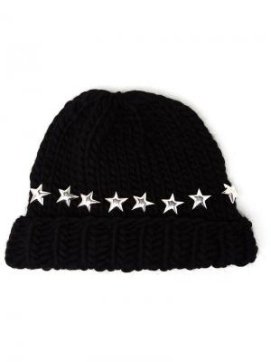 Star stud beanie Wool And The Gang. Цвет: чёрный