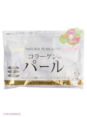 Japan Gals Курс натуральных масок для лица с экстрактом жемчуга 30 шт. Цвет: прозрачный