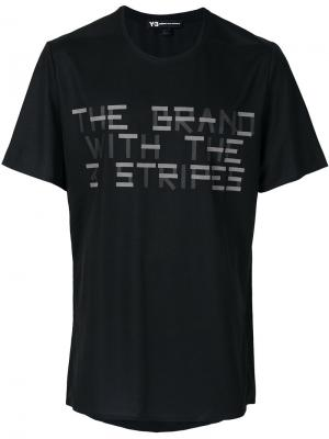 Printed T-shirt Y-3. Цвет: чёрный