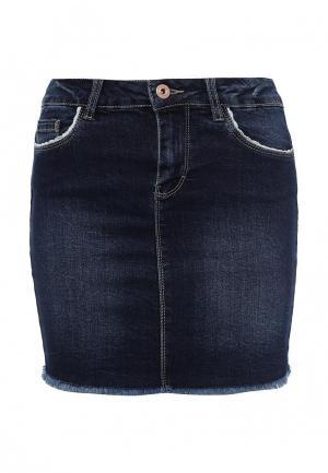 Юбка джинсовая Only. Цвет: синий