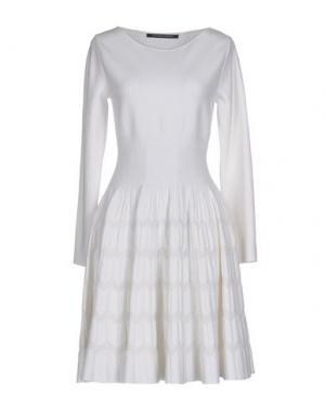Короткое платье ANTONINO VALENTI. Цвет: слоновая кость