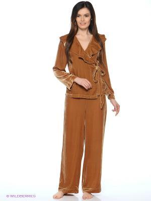 Пижама Del Fiore. Цвет: золотистый