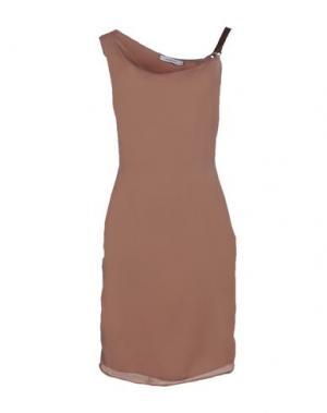 Короткое платье CRISTINAEFFE. Цвет: светло-коричневый