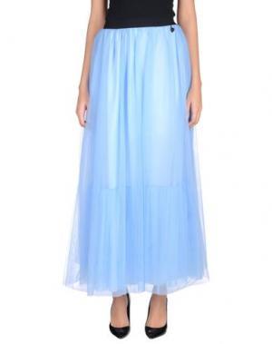 Длинная юбка NAUGHTY DOG. Цвет: небесно-голубой