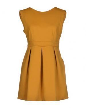 Короткое платье G2CHOICE. Цвет: охра