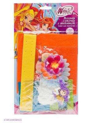 Набор для творчества с вышивкой  винкс модная сумочка Multiart. Цвет: розовый