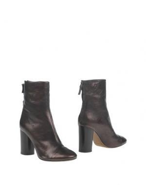 Полусапоги и высокие ботинки J|D JULIE DEE. Цвет: баклажанный