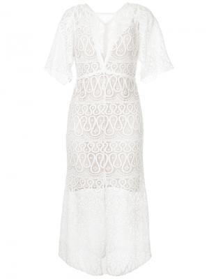 Платье Serpentine Manning Cartell. Цвет: белый