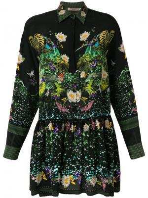 Платье-рубашка с принтом Piccione.Piccione. Цвет: чёрный