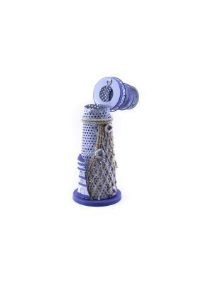 Декоративный подсвечник Маяк essentic  арт.51047-2. Цвет: белый, синий