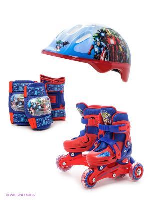 Комплект для катания Marvel. Цвет: красный, синий