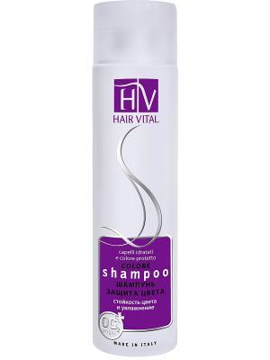 Шампунь Защита Цвета 250мл Hair Vital. Цвет: фиолетовый, белый
