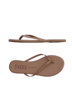 Вьетнамки TKEES. Цвет: песочный