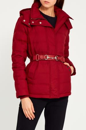 Куртка с поясом Gucci. Цвет: красный