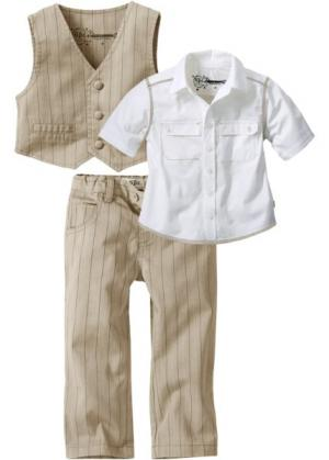 Комплект-тройка  для мальчика: рубашка + жилет брюки (светло-серый) bonprix. Цвет: светло-серый