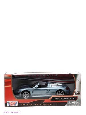 Машинка коллекционная Porsche Carrera GT Motormax. Цвет: серебристый