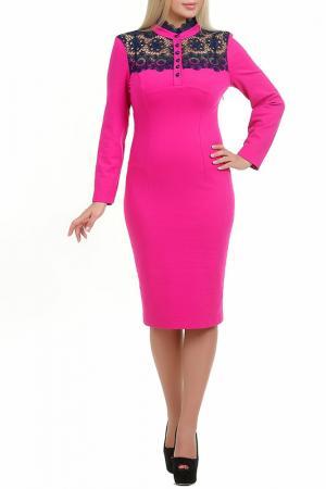 Платье Фрея LESYA. Цвет: розовый
