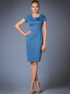 Платье Арт-Деко. Цвет: голубой