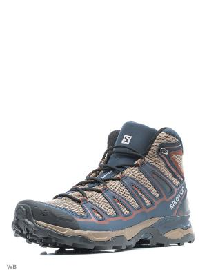 Ботинки SHOES X ULTRA MID AERO SALOMON. Цвет: черный, бежевый, синий