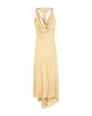 Длинное платье MUSANI COUTURE. Цвет: платиновый