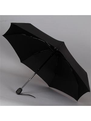 Зонт  Trust Мужской, 4 сложения, Полный Автомат, Полиэстер. Цвет: черный