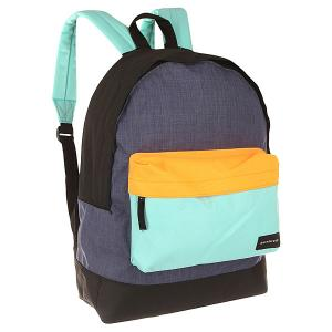 Рюкзак городской  Everyday Edit Aruba Blue Quiksilver. Цвет: черный,голубой,оранжевый,синий