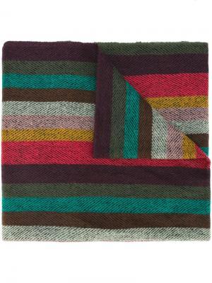 Полосатый шарф Paul Smith. Цвет: многоцветный