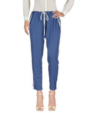 Повседневные брюки CQFP. Цвет: грифельно-синий
