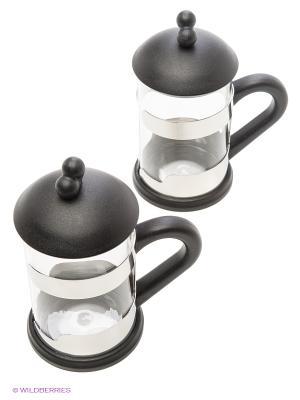Набор из двух чашек для чая BergHOFF. Цвет: черный, прозрачный