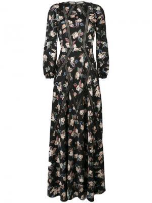 Длинное платье Odette Vilshenko. Цвет: чёрный