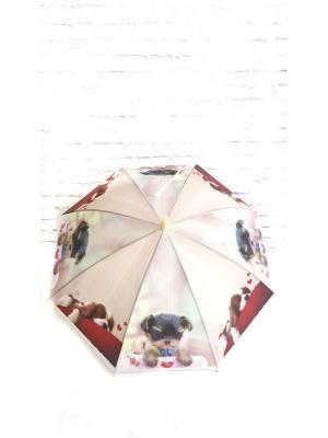 Зонт детский NeKi. Цвет: морская волна, белый, салатовый