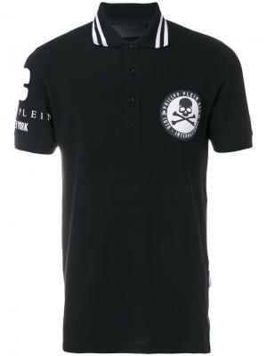 Рубашка-поло Side Philipp Plein. Цвет: чёрный