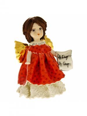 Статуэтка Ангел с нотами Zampiva. Цвет: красный, белый, коричневый