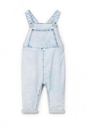 Комбинезон джинсовый Mango Kids. Цвет: голубой